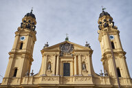 Germany, Bavaria, Munich, facade and towers of the Theatine Church - ELF02005