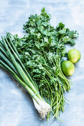 Fresh green onions, coriander and lime - CUF46999