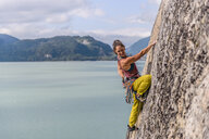Woman rock climbing, Squamish, Canada - CUF47053
