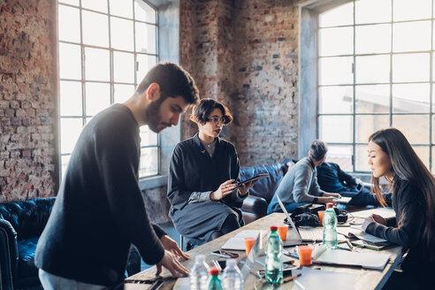Designers brainstorming in studio - CUF47230