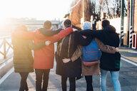 Friends on city break, Milan, Italy - CUF47236