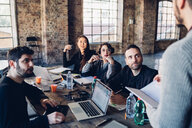 Designers having meeting in studio - CUF47269