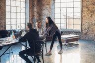 Designers brainstorming in studio - CUF47278