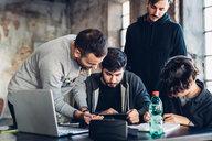 Designers brainstorming in studio - CUF47290