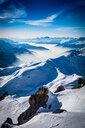 Snow covered Alps, Davos Platz, Graubunden, Switzerland - CUF47701