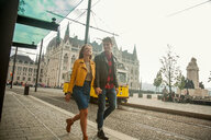 Couple on city break, Budapest, Hungary - CUF47770