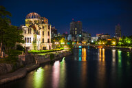 The Atomic Bomb Dome in Hiroshima, Japan one of the few buildings left standing after the bomb hit - ASTF02127