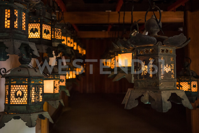 Lanterns at Kasuga-taisha shrine in Nara, Japan - ASTF02136