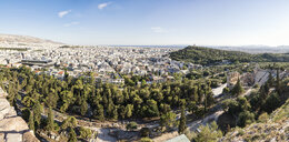 Panorama, Blick auf Odeon, Theater des Herodes Atticus, Philopapposmonument, Athen, Griechenland - MAMF00333