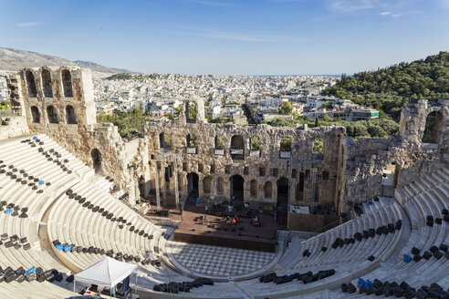 Greece, Athens, view on Odeon, theater of Herodes Atticus - MAMF00336