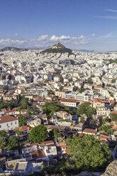 Blick auf die Stadt Athen und den Lykavittos, Lykabettus, Stadtberg, Athen, Griechenland - MAMF00345
