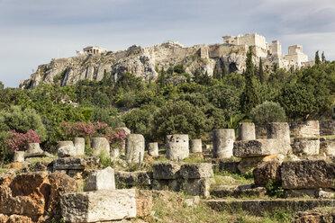 Blick von antiker Agora auf Akropolis, Athen, Griechenland - MAMF00362