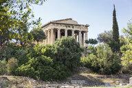 Blick auf Tempel des Hephaistos, Hephaisteion, antike Agora, Athen, Griechenland - MAMF00365