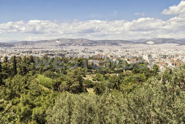 Blick auf Tempel des Hephaistos, Hephaisteion, antike Agora, Athen, Griechenland - MAMF00368