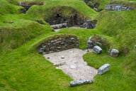 Unesco world heritage sight the stone build neolithic settlment of Skara Brae, Orkney Islands, United Kingdom - RUNF00990
