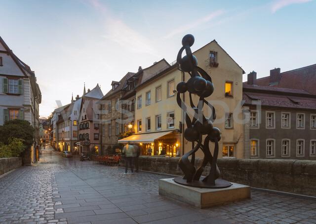 Germany, Bavaria, Bamberg, old town at dusk - TAM01153