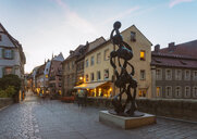 Germany, Bavaria, Bamberg, old town at dusk - TAM01153