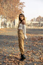 Portrait of a beautiful young woman in autumn - ACPF00369