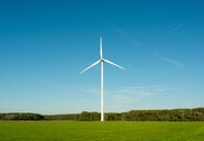 Wind turbine on nature reserve, Netherlands - CUF47913