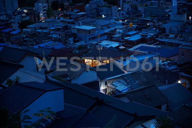 Township at night, Seoul, South Korea - CUF48021