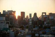 Cityscape at sunset, Seoul, South Korea - CUF48030