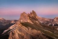 View into Geislergruppe, Santa Cristina in Val Gardena, Dolomites, Trentino-Alto Adige, Italy - CUF48287