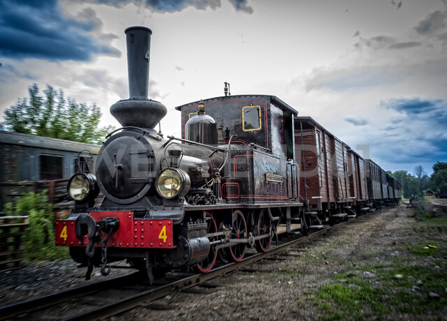 Steam locomotive in Faringe, Sweden - FOLF10298
