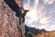 Rock climbing in Frey, San Carlos de Bariloche, Rio Negro, Argentina - ISF20410
