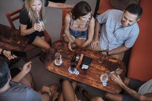 Friends socializing in a bar - ABAF02229