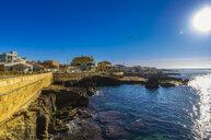 Spain, Mallorca, Portixol, view against the sun - THAF02431