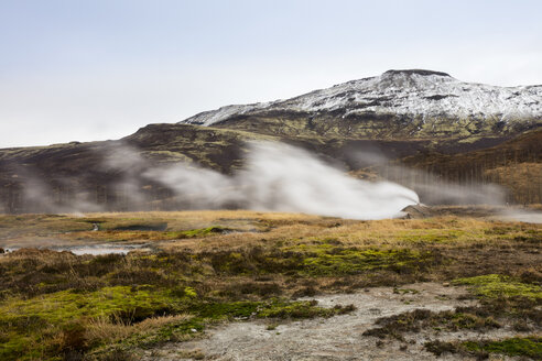 Iceand, Haukadalur valley, Geothermal site with hot spring, geyser - WIF03749