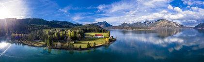 Germany, Bavaria, Upper Bavaria, Aerial view of Lake Walchen - AMF06713