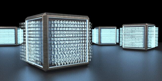 3d illustration. Abstract visualization of a digital unit. - ALF00736