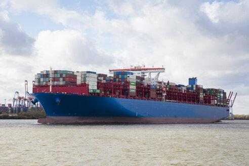 Deutschland, Hamburg, Elbe, Containerschiff - WIF03766