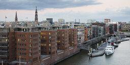 Germany, Hamburg, HafenCity, Sandtorhafen - WIF03778