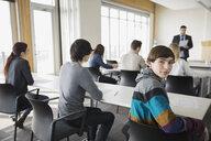 High school students and teacher in classroom - HEROF06700