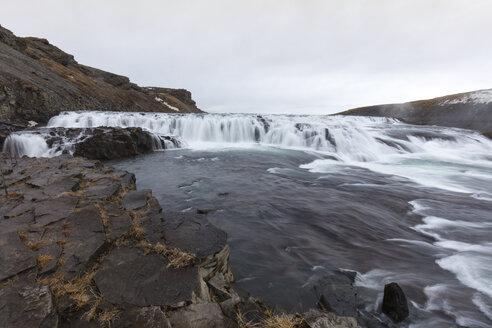 Island, Haukadalur, Golden Circle, Wasserfall Gullfoss - WIF03791