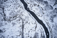 USA, Virginia, Mountain stream in winter with ice and snow in Highland county - BCDF00385