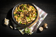 Ribbon noodles with Crimini Mushrooms, peas and chickpeas - MAEF12774
