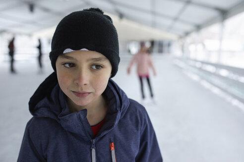 Serbia, Novi Sad, Ice skating, Boy, Fun - ZEDF01847