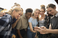 Teenagers using smart phone - HEROF09383