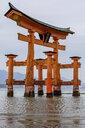 Itsukushima Shrine, a Shinto shrine on the island of Itsukushima, Miyajima, Japan. - MINF10092