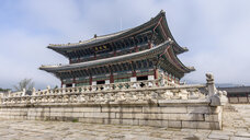 Exterior view of a Buddhist temple, Seoul, South Korea. - MINF10095