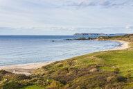 UK, Northern Ireland, Overlook over Whitepark Bay - RUNF01039