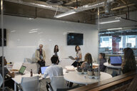 Creative business people meeting in office - HEROF11612