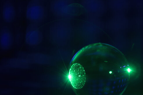 Creative abstract glowing green sphere - HEROF12713