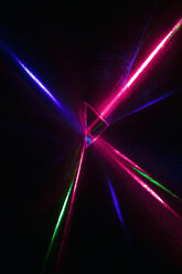 Creative, abstract multicolor laser refracting from triangle - HEROF12716