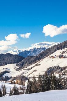 Italy, Trentino Alto-Adige, Val di Funes, Santa Maddalena on a sunny winter day - FLMF00113