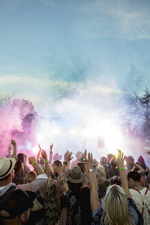 Powder over crowd at summer music festival - HEROF13758