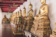 Thailand, Bangkok, Buddah statues in a temple - WPEF01346